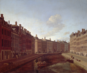 Gerrit Adriaensz.Berckheyde.'The bend of the Herengracht in Amsterdam' 1685